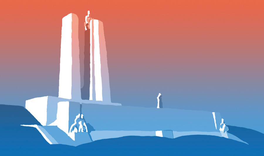 Illustration of the Vimy Memorial